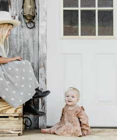 Woven blouse with all-over r+c exclusive 'garden' print. Color: petal Made of cotton crepe Cute Baby Girl Outfits, Boy Outfits, Fall Family Outfits, What To Wear Fall, Future Daughter, Family Photo Sessions, Cute Boots, Neutral Colors, Cute Babies