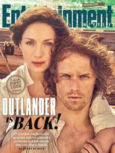 1 of 3 New covers on the EW magazine.... Yaaaayyy!! So excited! - Caitriona Balfe as Claire Randall Fraser and Sam Heughan as Jamie Fraser - Outlander_Starz Season 3 Voyager - August 24th, 2017