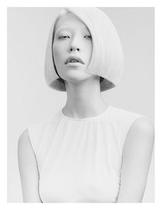 Minimalist+Hairstyle+Ads+-+The+G+B+Beauty+Salon+Campaign+has+a+Futuristic+Vibe+(GALLERY)