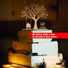 Rustikale Cake Topper personalisierte von CAKETOPPERHOUSE auf Etsy