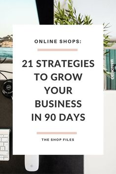 Grow your Business in 90 Days: 21 strategies to grow your business by setting a strong foundation, marketing strategies, improving your shop and focusing your social media strategies - Online marketing tips Affiliate Marketing, Marketing Website, Online Marketing, Content Marketing, Seo Marketing, Business Advice, Business Entrepreneur, Business Planning, Strategy Business