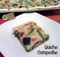 Cómo hacer una Quiche Campestre o Tarta Vegetal súper fácil y apta para Vegetarianos, la receta con fotos paso a paso. #cocina #quiche #vegetal #vegetariano #facil #simple