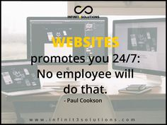 Inspirational Quotes: Websites promotes you No employee will do that. Website Structure, Promotion, Web Design, Inspirational Quotes, Good Things, Marketing, Type, Business, Life Coach Quotes