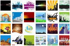 free vector buildings, skylines, cityscapes