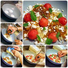 The making of Watermelon Salad #Cuca #Bali #Food #foodie