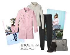 TICKLED pink jacket, VAIL ivory turtleneck sweater, ECLECTIC charcoal grey ankle pants - Etcetera Fall Collection. TRUNK SHOW NOW THROUGH AUGUST 12 IN MORAGA, CA AND SAN FRANCISCO!