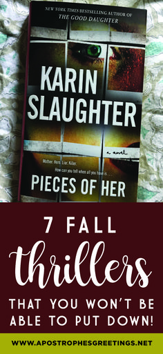 7 fall Thrillers that you won't be able to put down! — Apostrophe S Greetings Best Books To Read, I Love Books, My Books, Books For Fall, Book Club Books, Book Nerd, The Book, Book Clubs, Reading Lists