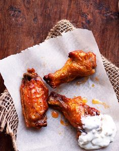Baked Buffalo Wings (healthier version for that Super Bowl Party)