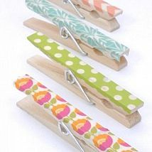 Washi tape clothes pins are a quick, easy, and cheap project