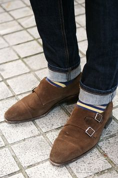 seeing double monk belts everywhere. Love the socks
