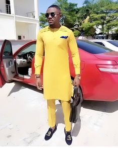 African men clothing african mens shirt and pants. African Dresses Men, African Clothing For Men, African Shirts, African Attire, African Wear, African Style, Nigerian Men Fashion, African Men Fashion, Africa Fashion