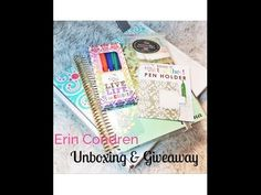 ▶ Erin Condren Unboxing & Giveaway - YouTube #eclifeplanner14