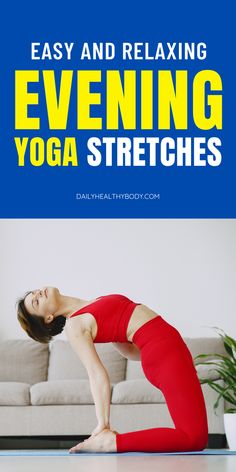 Sleep is a critical part of our health, but many of us toss and turn in bed for a long time. These easy evening yoga stretches for sleep can help.  #eveningyoga #eveningyogastretches #bedtimeyoga #fallasleepfaster #yogaforsleep #yogastretches #yoga Bedtime Stretches, Bedtime Yoga, Become A Yoga Instructor, Yoga Sequence For Beginners, Foam Roller Exercises, Free Yoga Videos, Yoga For Stress Relief, Yoga At Home, Pilates Reformer