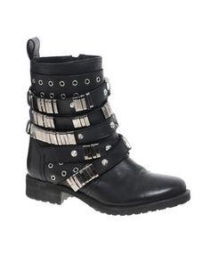 ASOS ABERDEEN Leather Biker Boots, Asos