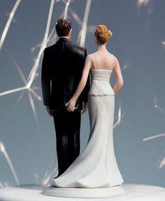 Falta una de el pegando o peitinho Noivinhos para bolo de casamento