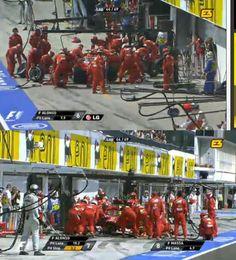 """From """"Hungary F1 GP - Budapest 2012"""" story by Kaspersky Motorsport on Storify — ¡Fernando Alonso y Felipe Massa a boxes!"""