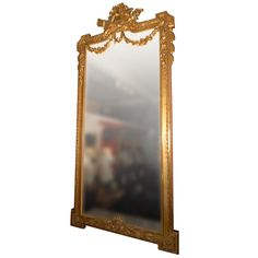 1stdibs   French Hall Mirror with Carved Gilt Wood Frame