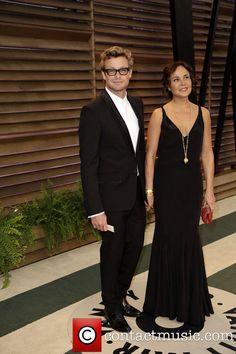 Simon Baker and Rebecca Rigg - 2014 Vanity Fair Oscar Party