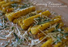 casual glamorous: Rosemary Parmesan Polenta Fries