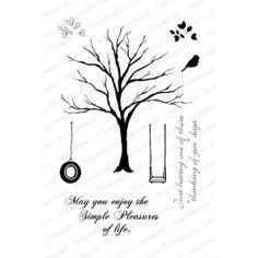 """Motivstempel """"Solid Tree"""""""