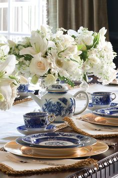 Host a blue-and-white-inspired tea.