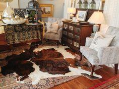 Nice Faux Cowhide Rug Rugs In Living Room Designs