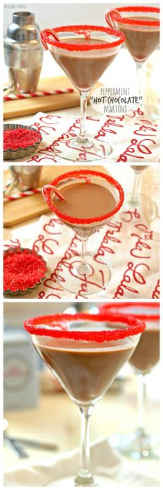 """Peppermint """"Hot Chocolate"""" Martinis, easy delicious and fun! Perfect for the holidays!   The Cookie Rookie"""