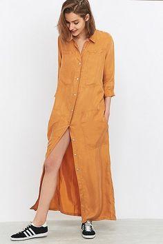 LF Markey Joss Rust Maxi Shirt Dress
