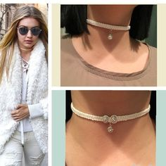 Pearl Charm/Swarovski Choker 100% high quality. Can be dressed up with a sleek dress or down with leggings and a tank top! Classy with a bohemian touch. Jewelry Necklaces