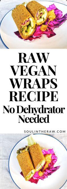 Spicy Wrawps with Tangy Asian-Inspired Almond Sauce Raw Vegan Wraps Recipe: No Dehydrator Needed Healthy Vegan Snacks, Vegan Nutrition, Vegan Food, Vegan Raw, Food Food, Paleo, Keto, Delicious Vegan Recipes, Raw Food Recipes