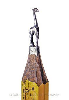 Teria paciência para esculpir uma girafa no grafite do lápis?