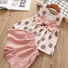 Girls Summer Clothes Casual Suit Elegant Comfy Set Pink And Yellow Girls Summer Casual Elegant Comfy Suit Set Kids Clothes Girls Summer Outfits, Little Girl Outfits, Summer Girls, Summer Set, Baby Girl Fashion, Fashion Kids, Toddler Fashion, Look Fashion, Fashion Shoes