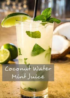 How To Make Coconut Water Mint Juice: This looks great, but I bet it would be tastier with vodka....