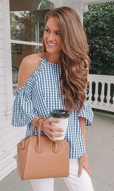 Girly Outfits, Casual Outfits, Summer Outfits, Cute Outfits, Look Fashion, Womens Fashion, Types Of Fashion Styles, Blouse Designs, Trending Outfits