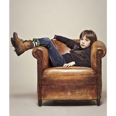 Mode enfant : 15 looks IKKS casual chic pour petits garçons : Le petit pull en laine de chez IKKS - Maman Plurielles.fr