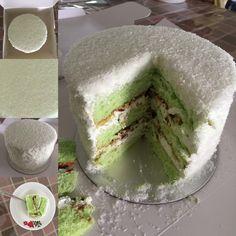 Onde-onde or onde onde or Ondeh-ondeh....  Onde-onde cream & gula melaka cake from:  www.simplysinless.com  (or aka Ondeh-ondeh cake)