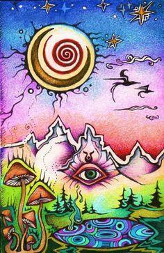 ☯☮ॐ American Hippie Psychedelic Art Eyes ~ Trippy Trippy Drawings, Art Drawings, Psychedelic Art, Trippy Designs, Trippy Painting, Acid Art, Stoner Art, Psy Art, Hippie Art