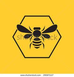 Bee logo - stock vector