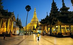The jewel of the city formerly known as Rangoon is the Shewedagon Pagoda, one of the world´s great Buddhist shrines, which is literally swathed in gold as well as diamonds, rubies and other precious stones.