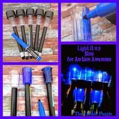 Make your own - Autism Awareness Solar Lights or choose a color to support your cause ---   http://tipsalud.com   -----