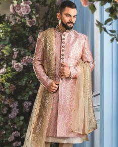 Manyavar Shwerwani  #DressCodeManyavar #manyavarweddingsutra #manyavar #manyavarmohey #manyavarmenswear #groom #groomswear #viratkohli #viratmanyavar #indianwedding #menswear #indiangroom African Print Wedding Dress, Wedding Dresses Men Indian, Simple Wedding Gowns, Punjabi Wedding, Backless Wedding, Indian Weddings, Couple Wedding Dress, Groom Wedding Dress, Wedding Suits