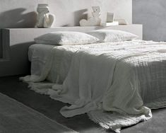 A gorgeous standalone dreamy bed cover or layered up with our other blankets or throws. The design is the outcome of a slow hand looming process made in India by textile artisans. Layers of gauzy linen weave are joined by pick stitching resulting in a dappled effect in the weave. subtle elegant finishes; a tufted fring Sleep Rituals, Slow Hands, Pick Stitch, Sleep Quality, Bed Throws, Building Design, Bed Covers, Good Night Sleep, Linen Bedding