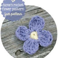Dame's Rocket Flower Free Pattern August 23, 2014 by Rhondda 6 Comments