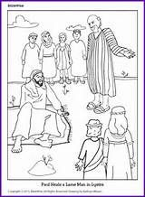 Timothy was taught by his mother grandmother printable in spanish coloring paul heals a lame man kids korner biblewise fandeluxe Gallery