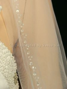 wedding veil with stones