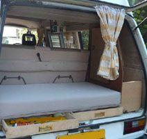 VW T25 Autohomes Komet Rear Storage Drawers