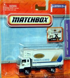 GMC T8500 AIRPORT TRUCK * WHITE * Matchbox Real Working Rigs Die-Cast Vehicle * Real Working Parts * by Mattel. $9.99. GMC T8500 AIRPORT TRUCK * WHITE * Matchbox Real Working Rigs Die-Cast Vehicle * Real Working Parts *. Vehicle measures approximately 4 inches long.. From Mattel. Ages 3+. Includes authentic die-cast parts, real working pieces, Raise cargo box, lower platform and extend the ramp.. MATCHBOX® Real Working Rigs: This Real Working Rigs series features larger-sized ... Custom Hot Wheels, Hot Wheels Cars, Nissan Titan Truck, Matchbox Cars, Jeep Truck, Diecast Model Cars, Toy Trucks, Model Trains, Vintage Toys