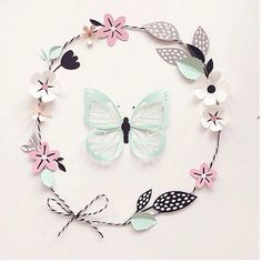 Bibelot: Hanna Nyman interview. #paper #paperart #illustration #floral #butterfly