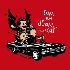 I already have too many shirts but I want this! Sam and Dean and Cas - Weekly Shirts - Weekly Shirts