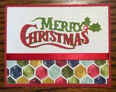 Stampin days; Christmas card, Stampin' UP!, Season of cheer